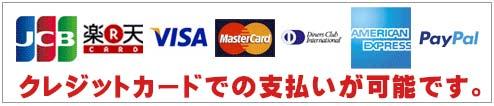 クレジットカードでの支払いが可能です。